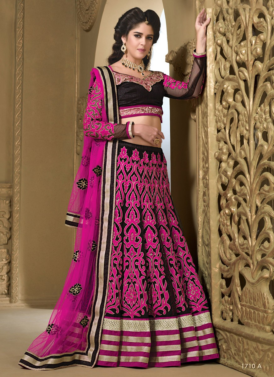 Izabelle Liete Silk Patch Work Pink Semi Stitched Patch Work Lehenga