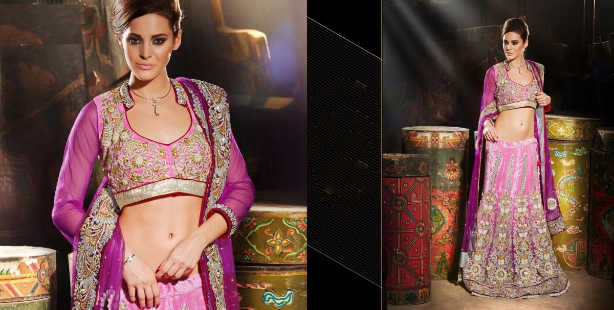 PR Fashion Designer Velvet Lehenga Choli