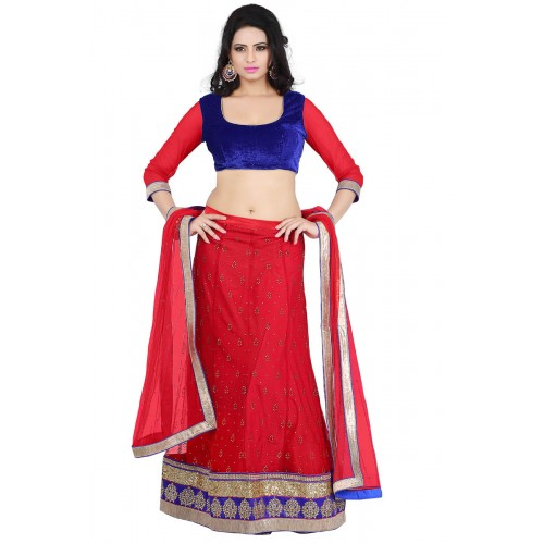 net machine lehengas